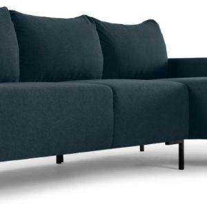 MADE Essentials Oskar 3 Seater Right Hand Facing Compact Corner Chaise End Sofa, Aegean Blue