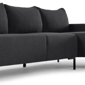 MADE Essentials Oskar 3 Seater Right Hand Facing Compact Corner Chaise End Sofa, Sterling Grey