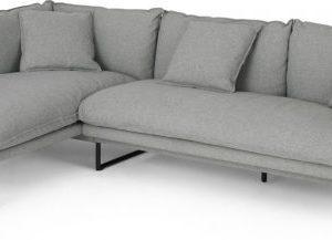Malini Left Hand Facing Chaise End Corner Sofa, Mountain Grey