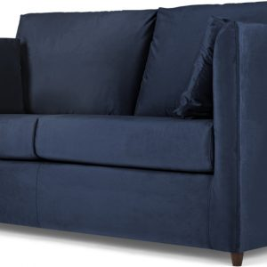 Milner Sofa Bed with Memory Foam Mattress, Regal Blue Velvet