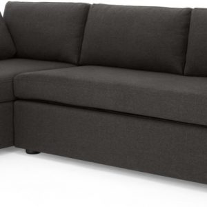 Mogen Left Hand Facing ChaIse End Sofa Bed, Oyster Grey