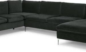 Monterosso Left Hand Facing Corner Sofa, Dark Anthracite Velvet