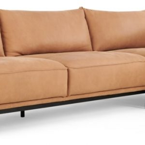 Odelle, Right Hand Facing Chaise End Corner Sofa, Tan leather