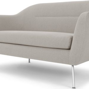 Reece 2 Seater Sofa, Mina Flint Grey with Metal Legs