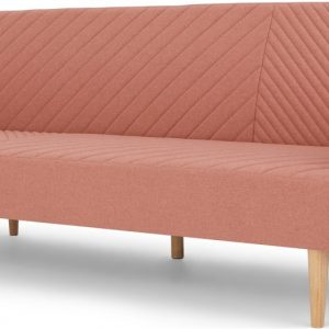 Ryson Click Clack Sofa Bed with Arms, Dusk Pink