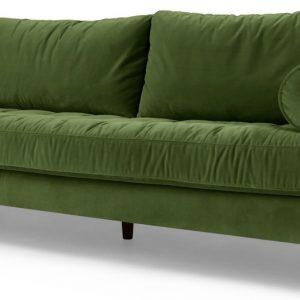 Scott 3 Seater Sofa, Grass Cotton Velvet