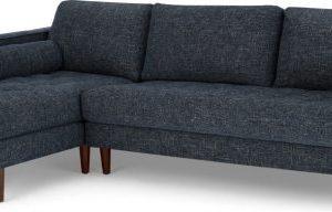 Scott 4 Seater Left Hand Facing Chaise End Corner Sofa, Cuba Blue Weave