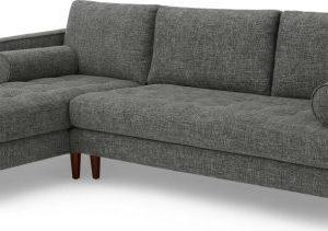 Scott 4 Seater Left Hand Facing Chaise End Corner Sofa, Iron Weave
