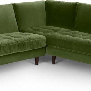 Scott Corner Sofa, Grass Cotton Velvet