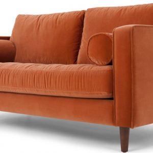 Scott Large 2 Seater Sofa, Burnt Orange Cotton Velvet