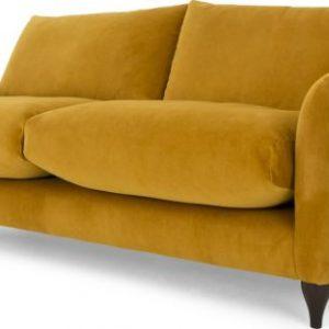 Sofia 2 Seater Sofa, Plush Turmeric Velvet
