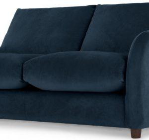 Sofia 2 Seater Sofabed, Plush Indigo Velvet