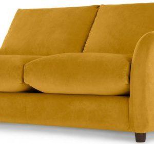 Sofia 2 Seater Sofabed, Plush Tumeric Velvet