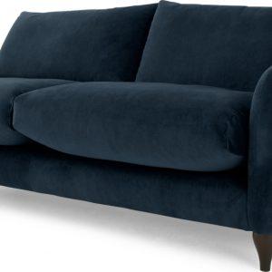 Sofia 3 Seater Sofa, Plush Indigo Velvet