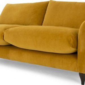 Sofia 3 Seater Sofa, Plush Turmeric Velvet