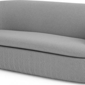 Tandy Large 2 Seater Sofa, Quilted, Cool Grey