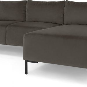 Frederik 3 Seater Right Hand Facing Compact Corner Chaise End Sofa, Otter Velvet