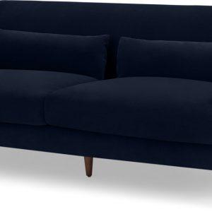 Herton 3 Seater Sofa, Ink Blue Velvet