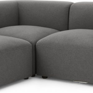 Juno 2 Seater Sofa with Footstool, Marl Grey