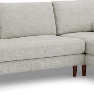 Scott 4 Seater Right Hand Facing Chaise End Corner Sofa, Ivory Weave