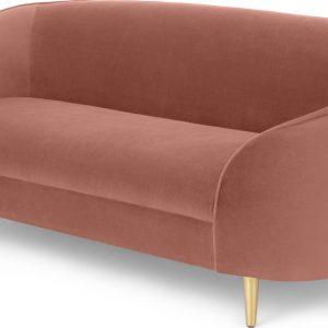 Trudy 2 Seater Sofa, Blush Pink Velvet