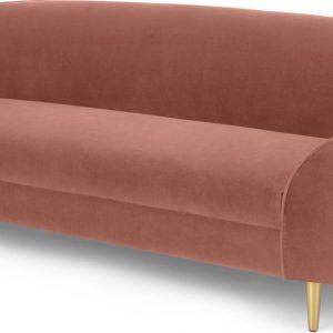Trudy 3 Seater Sofa, Blush Pink Velvet