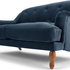Ariana 2 Seater Sofa, Sapphire Velvet