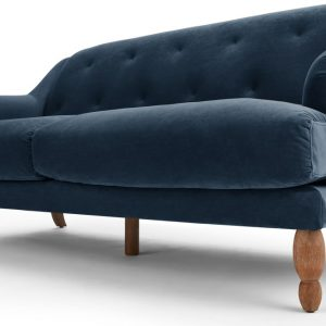 Ariana 3 Seater Sofa, Sapphire Velvet