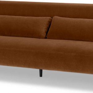 Giselle 3 Seater Sofa, Cinnamon Velvet