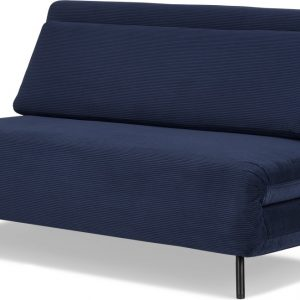Kahlo Large Double Sofa Bed, Navy Corduroy Velvet