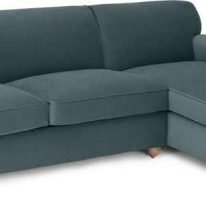 Orson Right Hand Facing Chaise End Sofa Bed, Marine Green Velvet