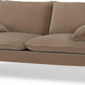Fallyn Large 2 Seater Sofa, Mink Cotton Velvet