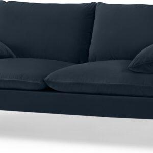 Fallyn Large 2 Seater Sofa, Navy Cotton Velvet