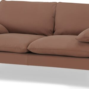 Fallyn Large 2 Seater Sofa, Nubuck Brown Leather