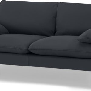 Fallyn Large 2 Seater Sofa, Nubuck Carbon Leather