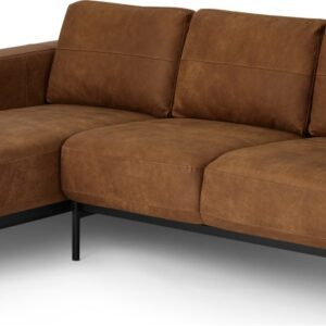 Jarrod Left Hand facing Chaise End Corner Sofa, Outback Tan Leather