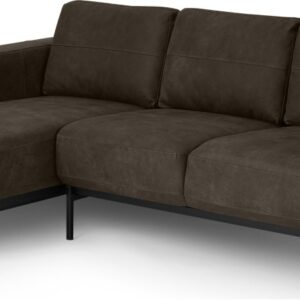 Jarrod Left Hand facing Chaise End Corner Sofa, Truffle Brown Leather