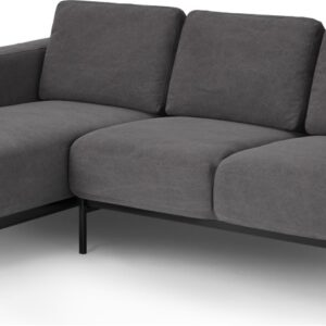 Jarrod Left Hand facing Chaise End Corner Sofa, Washed Grey Cotton
