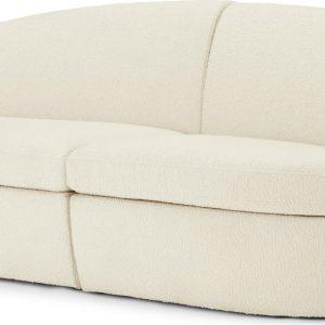 Reisa 2 Seater Sofa, Whitewash Boucle