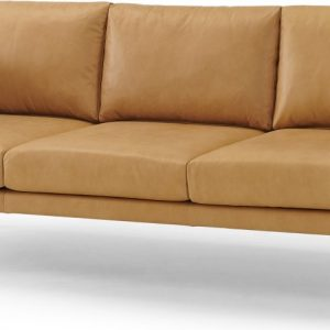 Savio 3 Seater Sofa, Chalk Tan Leather