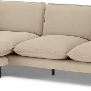 Wes 3 Seater Chaise End Corner Sofa, Stone Micro Corduroy Velvet