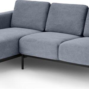 Jarrod Left Hand facing Chaise End Corner Sofa, Washed Blue Cotton