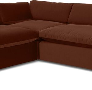 Samona Left Hand Facing Full Corner Sofa, Amber Velvet