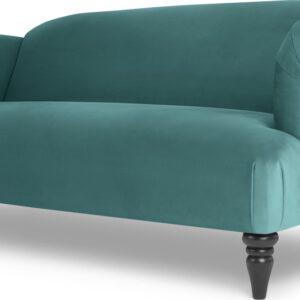 Claudia 3 Seater Sofa, Peacock Blue Velvet