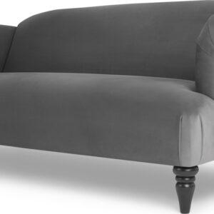 Claudia 3 Seater Sofa, Pewter Grey Velvet