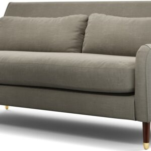 Content by Terence Conran Oksana 3 Seater Sofa, Athena Putty with Dark Wood Brass Leg
