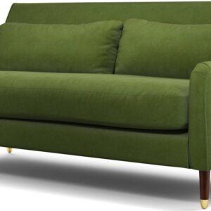 Content by Terence Conran Oksana 3 Seater Sofa, Plush Vine Green Velvet with Dark Wood Brass Leg