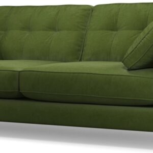 Content by Terence Conran Tobias, 3 Seater Sofa, Plush Vine Green Velvet, Dark Wood Leg