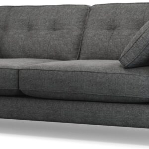 Content by Terence Conran Tobias, 3 Seater Sofa, Textured Weave Slate, Dark Wood Leg