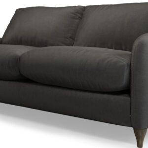 Custom MADE Sofia 2 Seater Sofa, Plush Asphalt Velvet with Light Wood Legs